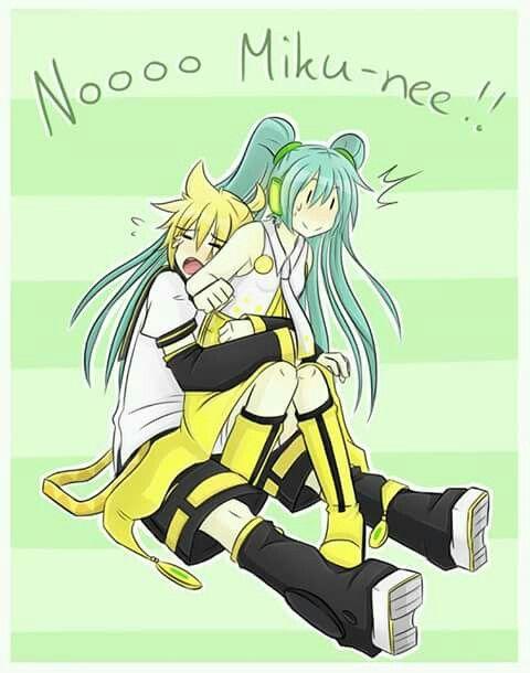Len: ¡¡Nooo Miku-nee!!
