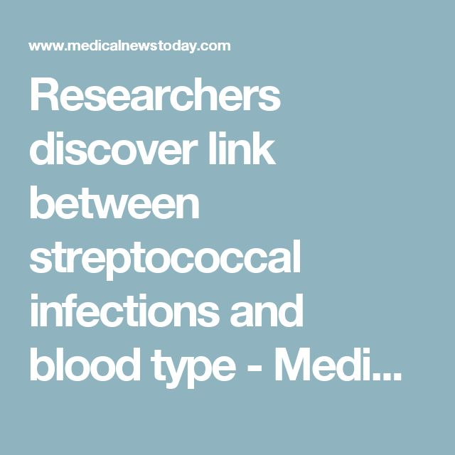 Researchers discover link between streptococcal infections and blood type - Medical News Today