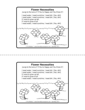 Flower Necessities, Lesson Plans - The Mailbox