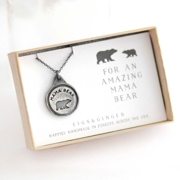Mama Bear necklace for your favorite Mother Bear! This lovely gift card is great for New Moms to GrandMoms, a super special and thoughtful necklace that will make both Mom smile whenever she wears it.