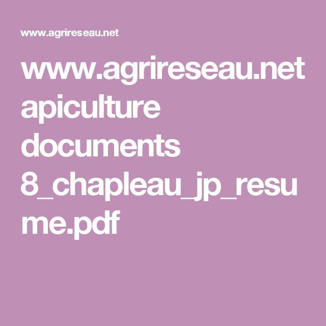 www.agrireseau.net apiculture documents 8_chapleau_jp_resume.pdf