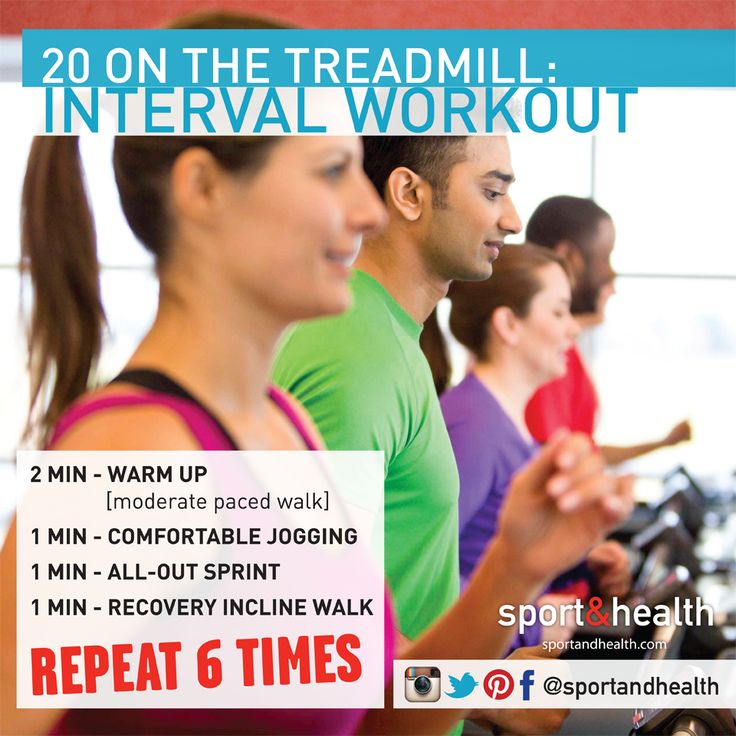 Show the treadmill who's boss with this 20-minute interval workout!Interval Workout