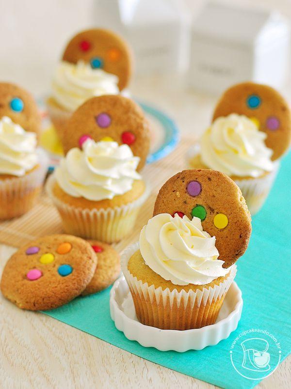 Cupcakes de cookie americano