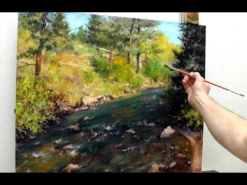 INCREDIBLE! How To Paint Without Underdrawing With Knife! Portrait Demonstration By Sergey Gusev. - YouTube