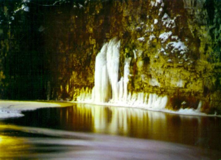 """The Whirlpool,"" Fergus, Canada, winter 1982.   © j. marshall craig"