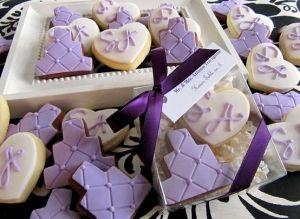 Purple Wedding Cookies By Anita