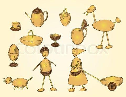 Crafts acorn stock vector