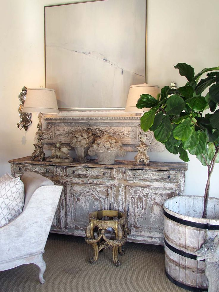 Contemporary art mixed with antiques & patina - Lisa Ruby Ryan