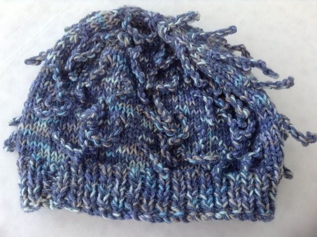 Funky hats. Love knitting these.