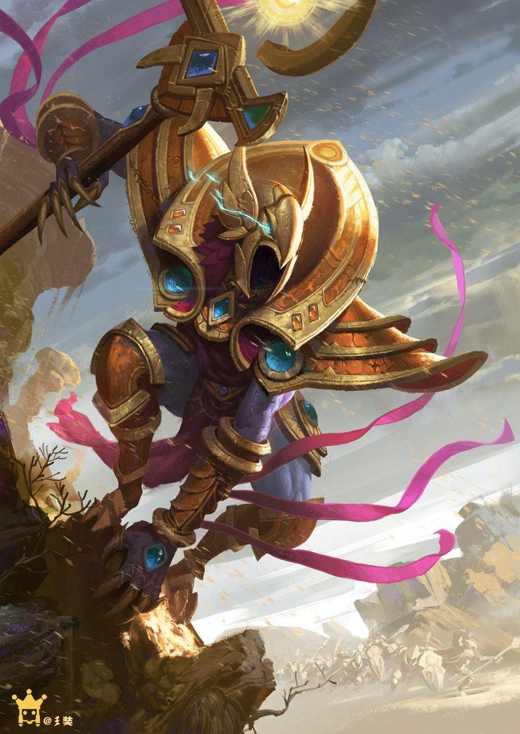 Azir The Emperor Of The Sands fanart, Zang San on ArtStation at https://www.artstation.com/artwork/azir-the-emperor-of-the-sands-fanart