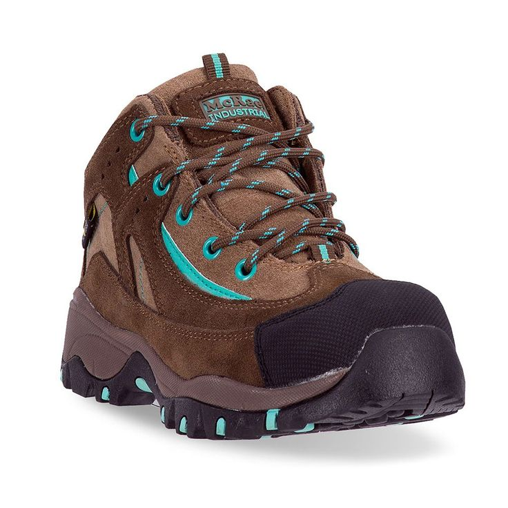 McRae Industrial Women's Composite-Toe Metatarsal Guard Mid Hiking Boots, Size: medium (6.5), Brown