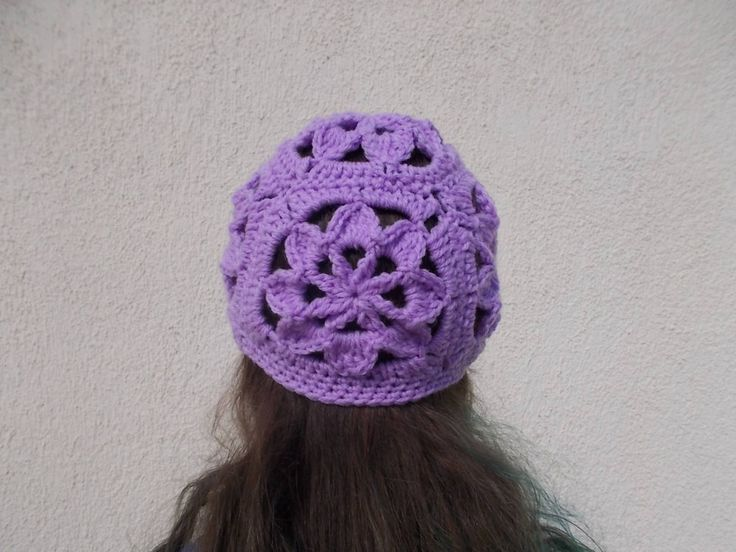CROCHET PATTERN / Women- Girl Flower granny square hat / beanie / cloche by crochetcoffee on Etsy