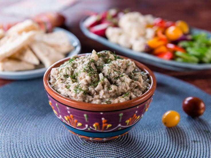 "Nadia's ""Salata de Vinete"" Eggplant Salad Spread recipe from Trisha's Southern Kitchen via Food Network"