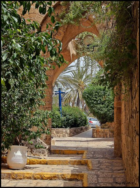 Old Jaffa, Israel.  I hope to revisit or live in Israel.