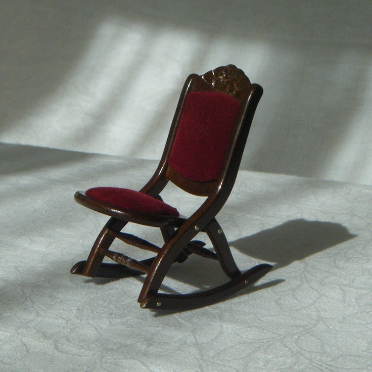Miniature Red Rocking Chair ~ Best images about western rustic log cabin dollhouse