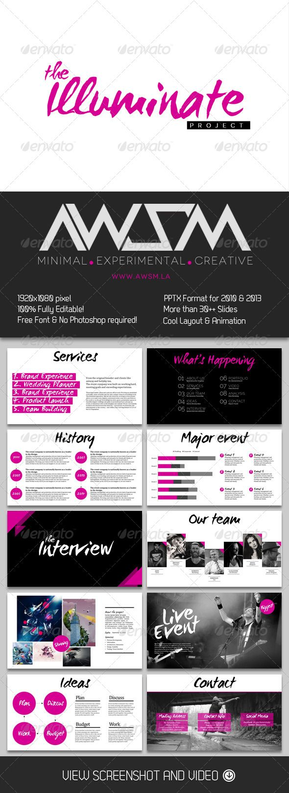 The Illuminate PowerPoint - Business Powerpoint Templates