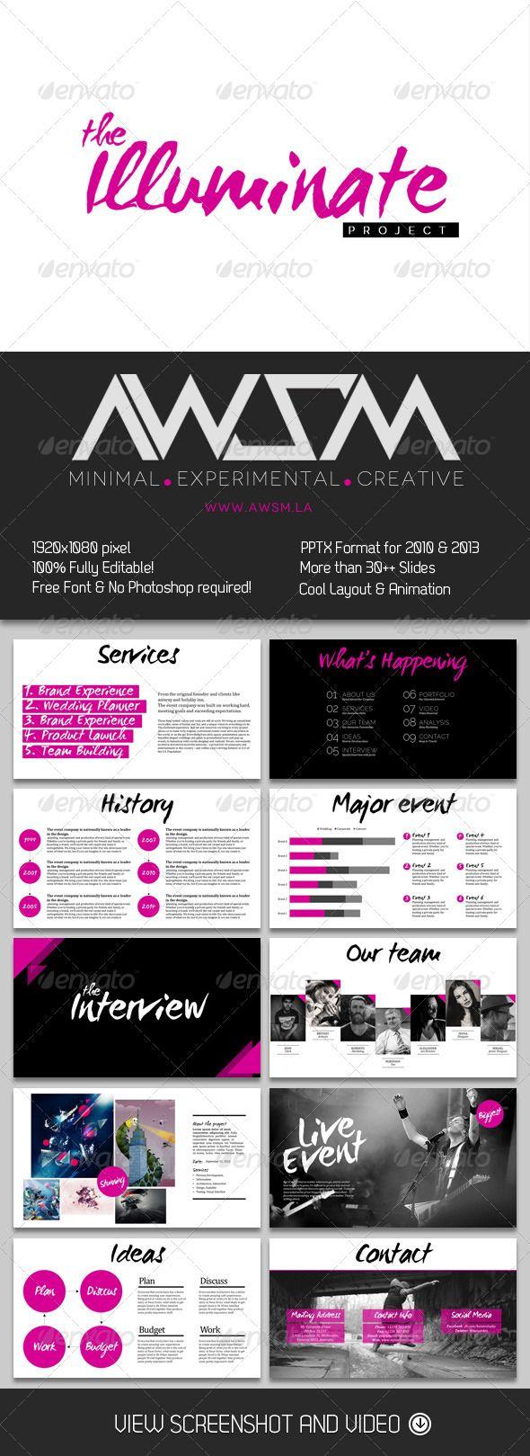 The Illuminate PowerPoint - Business Powerpoint Templates