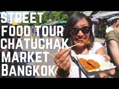 VIDEO! Top Thai street foods to eat at CHATUCHAK WEEKEND MARKET Bangkok, Thailand | Food and Travel Channel |