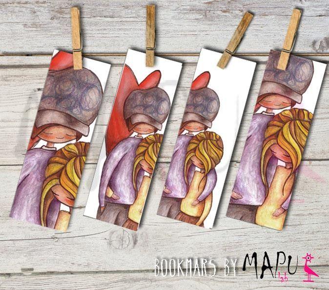 """Set di 4 Segnalibri 'Gli Innamorati' di MAPULAB by """"Artinfiera - Associazione Nazionale degli Artisti Artigiani"""" #artigianato #piemonte #artigianoinfiera #handmade #handcraft"""