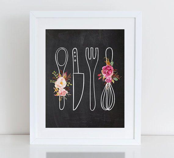 Impresión del arte de cocina decoración de la por DecorartDesign
