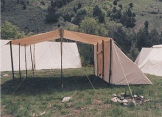 storage tent and dining fly.  Nice for camp kitchen and/or outside gathering