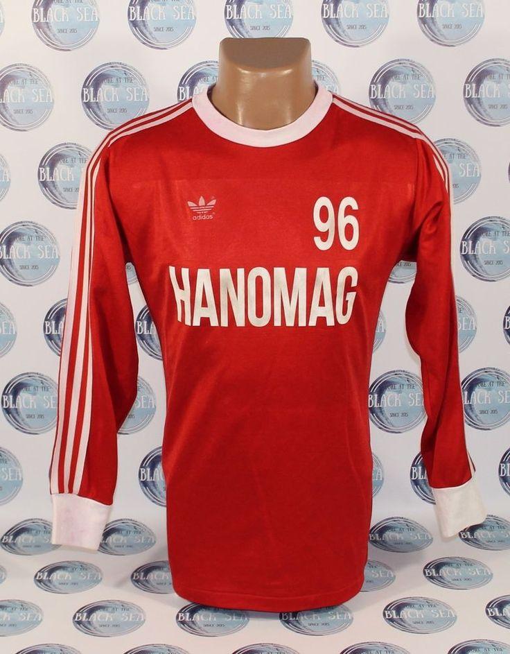 HANNOVER 96 1980?? FOOTBALL SHIRT JERSEY TRIKOT ADIDAS RARE LONG SLEEVE M #adidas #Hannover96