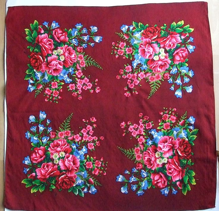 #Vintage Maroon #Scarf / Big #Shawl / Folk Scarf Shawl / Leaves Flowers Roses / Floral headscarf / light wool / Hand printed / Made in Japan #etsy #etsyfashion #etsyshawl #etsyscarf #etsyvintage Available at: etsy.com/shop/VintagePolkaShop