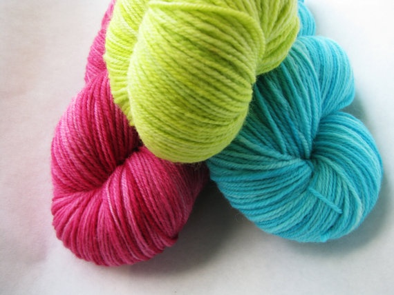 Sweater or Shawl Triad Three Skeins Aerialist Sock by knitcircus, $54.00