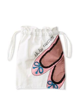 72% OFF Aviva Stanoff Ballet Laundry Bag, White/Pink/Black