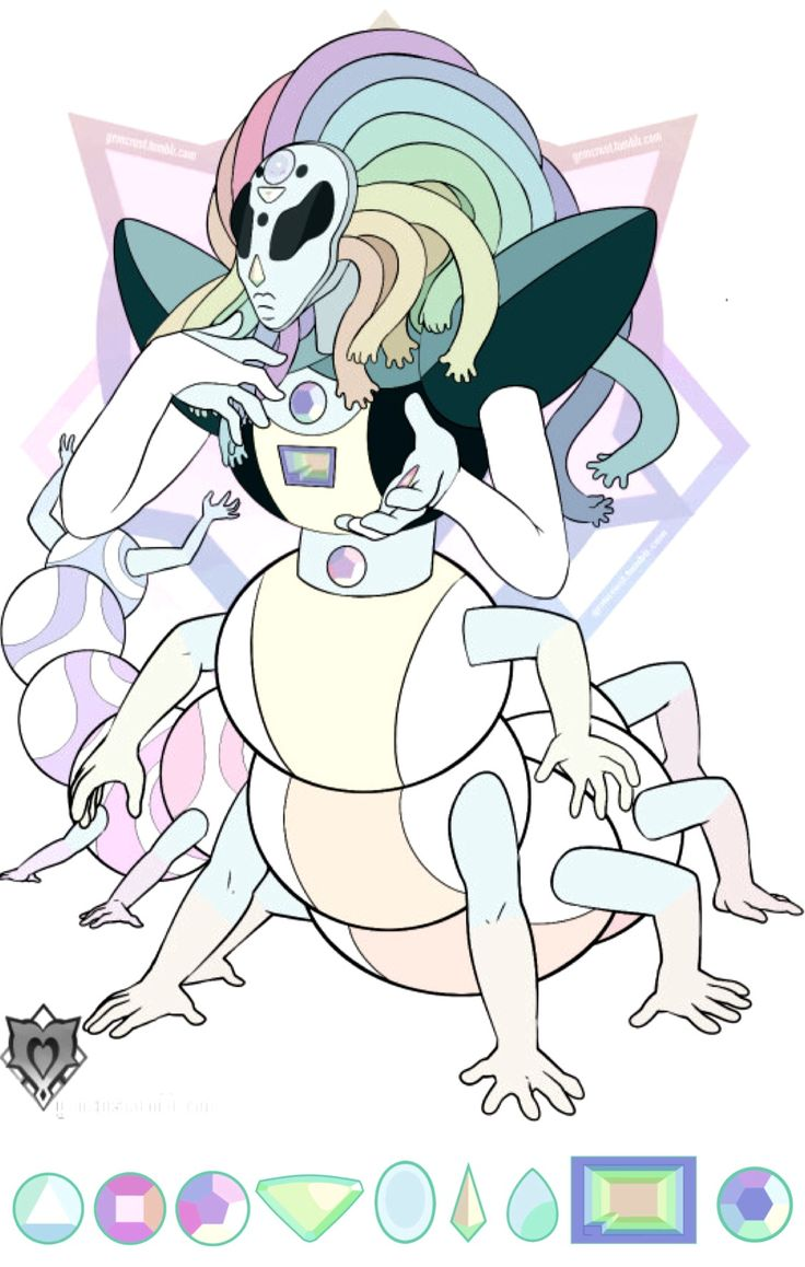 A horrifying (fan) fusion of all of the gems.