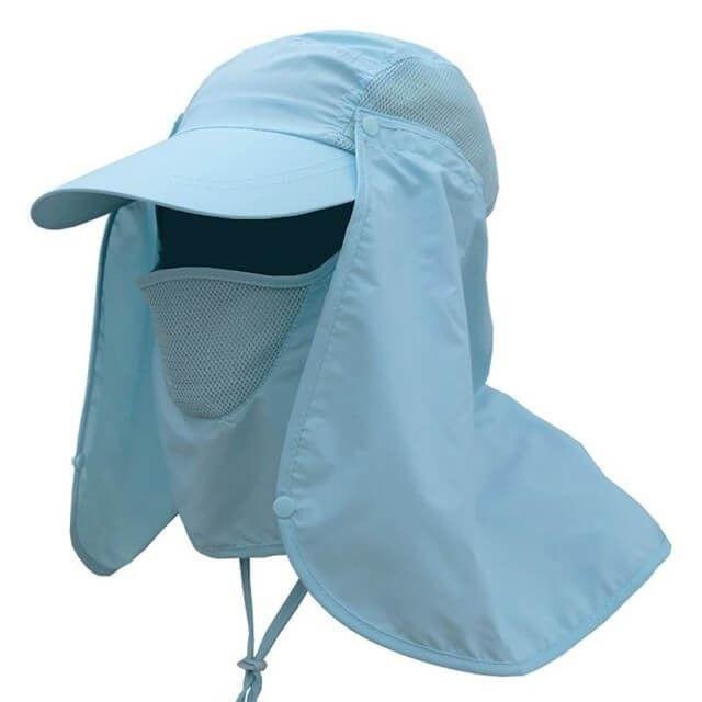 Outdoor Visor Hat UV Protection Face Neck Cover Capi  1e7fe7c84ee