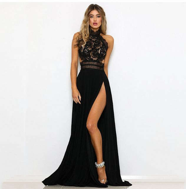 Večerní šaty Mylah - černé - Pošta Zdarma  88120750f4