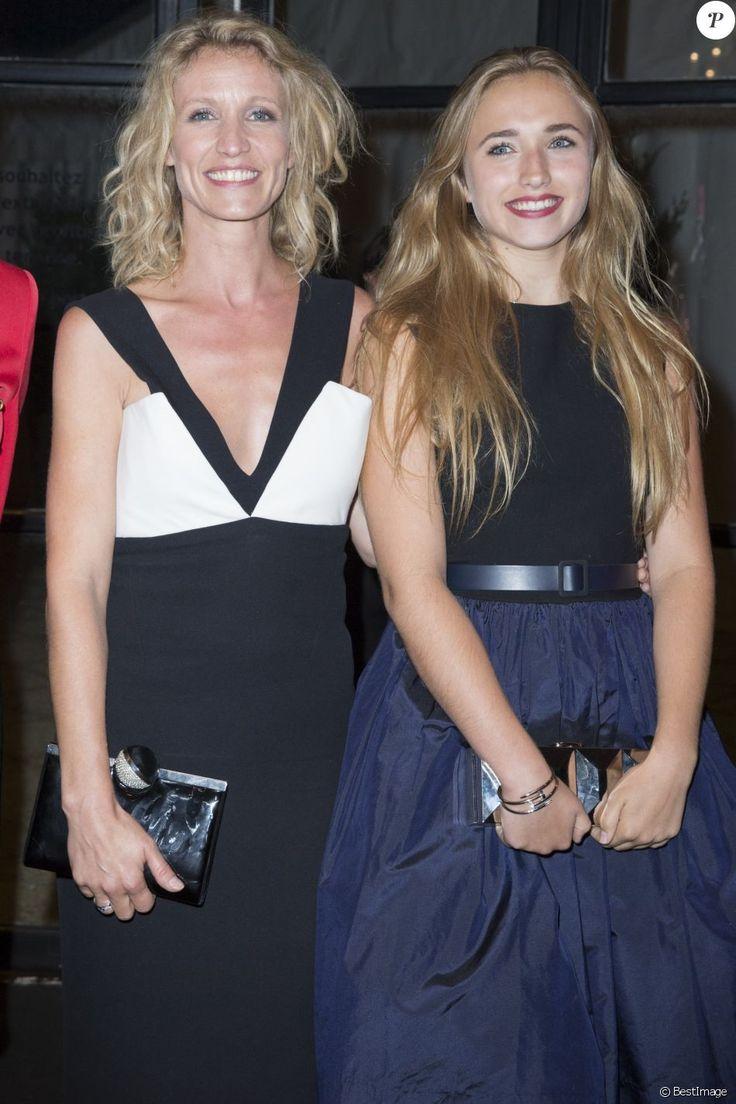 Alexandra Lamy et sa fille Chloé Jouannet - Dîner d'ouverture du 40e festival du cinéma américain de Deauville le 6 septembre 2014.