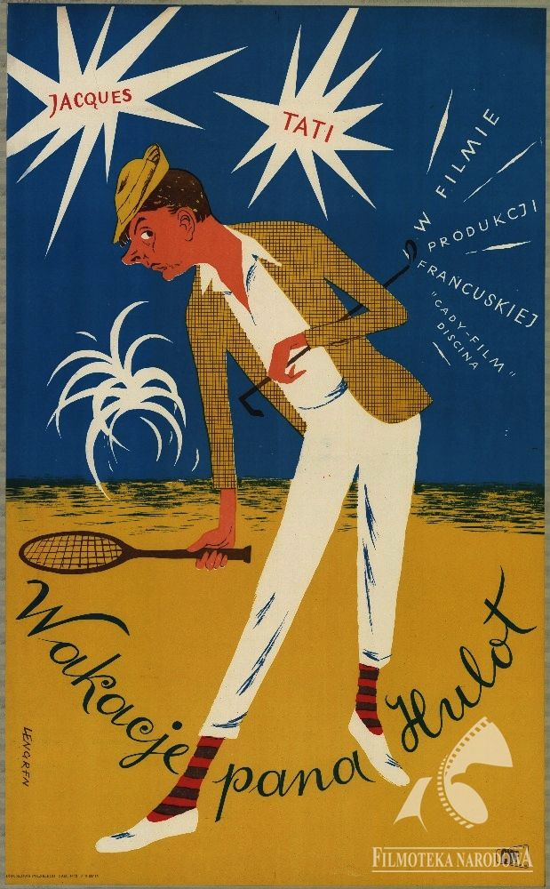 Polish posters: WAKACJE PANA HULOT - Zbigniew Lengren (1954)