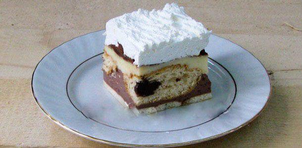 Pudingový koláčik s croissantom
