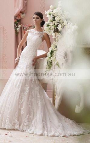 Mermaid Jewel Empire Sleeveless Floor-length Wedding Dresses wbs0236--Hodress