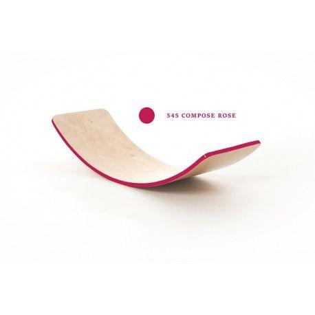 Creatimber Planche d'équilibre vernis Rose