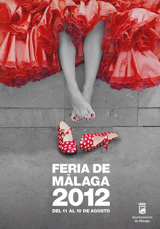 Cartel de Feria de Málaga 2012 #poster #typography #design