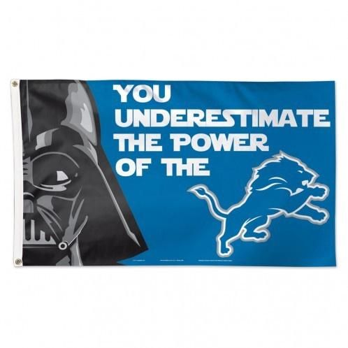 NFL Detroit Lions Star Wars Darth Vader 3' x 5' Deluxe Flag