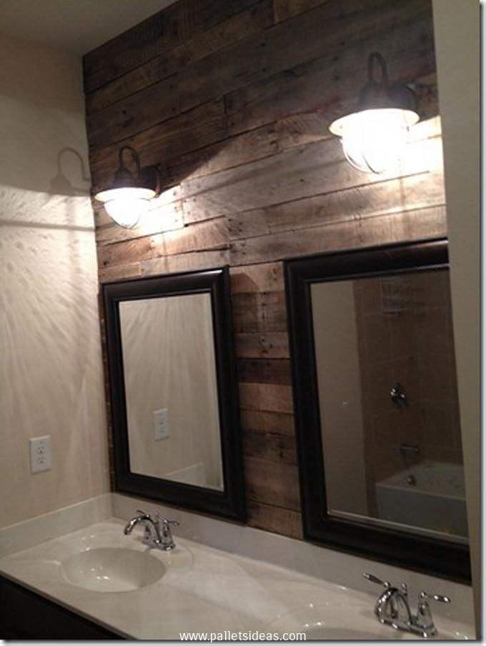 1000 images about pallet wall art on pinterest pallet for Pallet shower wall