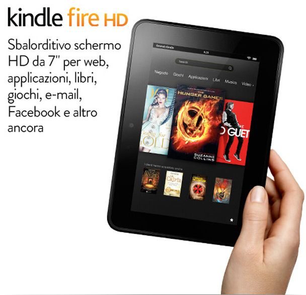Amazon Kindle Fire HD, tablet Android che esalta l'esperienza multimediale a partire da soli 199 €