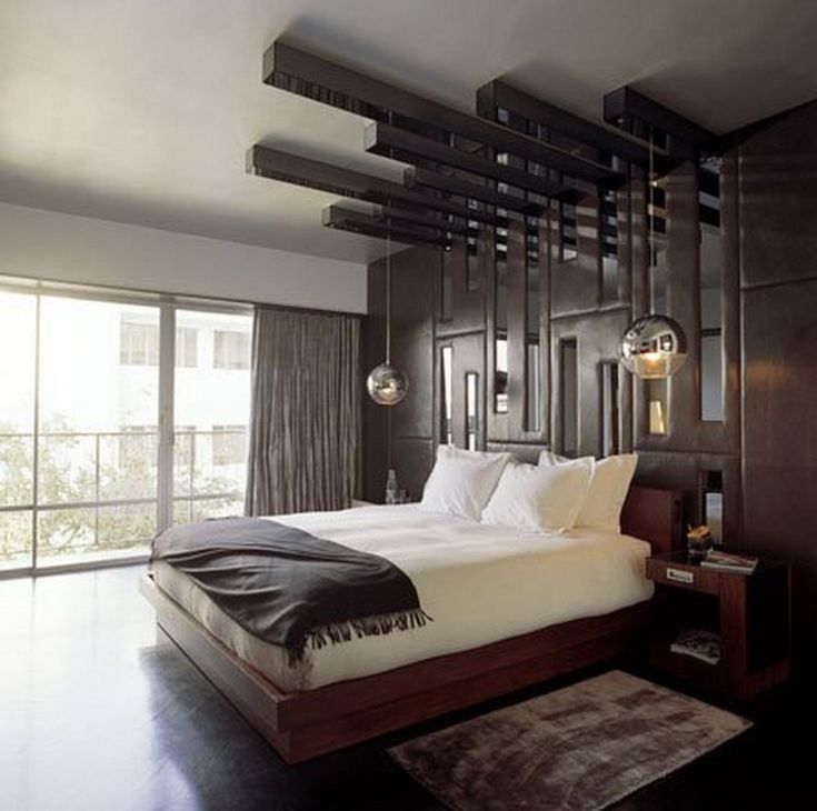bedroom designs with creative headboards within king size bed on wooden couch also rug above laminate flooring