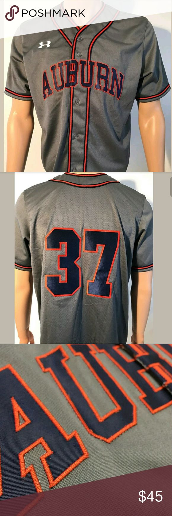 Under Armour University of Auburn Baseball Jersey Under Armour University of Auburn Baseball Team Issued Jersey Size Medium M Button Down Front. Under Armour Other