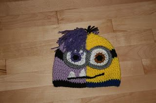 The Crafty Flutist: Half and Half Minion Beanie Style Hat