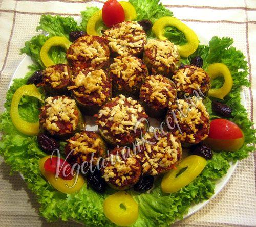 Кабачки, фаршированные овощами - вкусное полезное летнее блюдо. Молдавский рецепт.