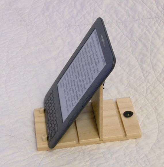 kindle stand - no longer available, but the idea could be a d.i.y.