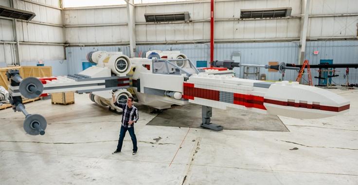 «Star Wars»: Nave X-Wing em tamanho real construída com 5,3 milhões de peças Lego | Cultura | Diário Digital