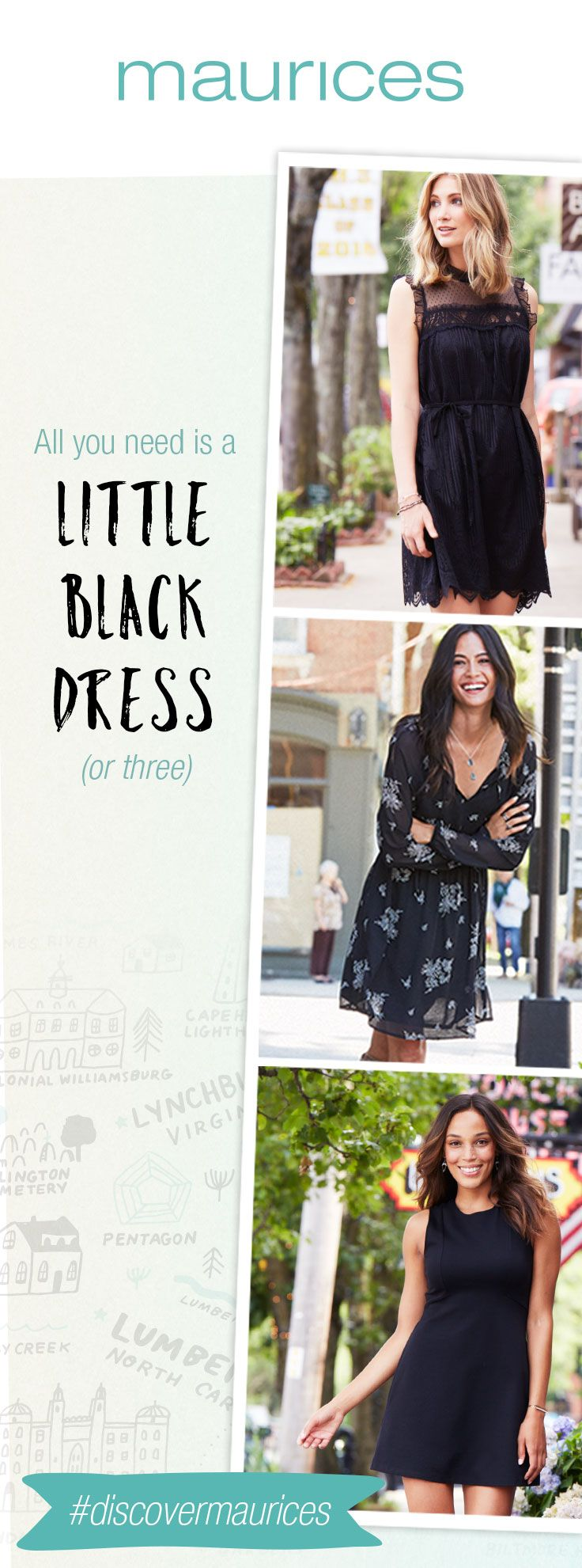Let's talk LBD'S. Shop maurices.com for the perfect little black dresses for fall. Plus, get FREE shipping when you pick up in store or on orders of $50 or more.