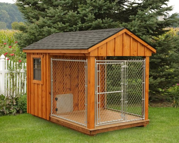 13 best animal shelters dog houses chicken coops horse for Dog kennel shed combo plans