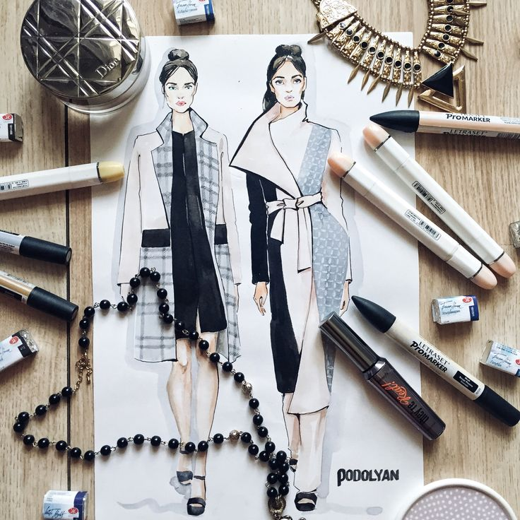 fashion illustration hair